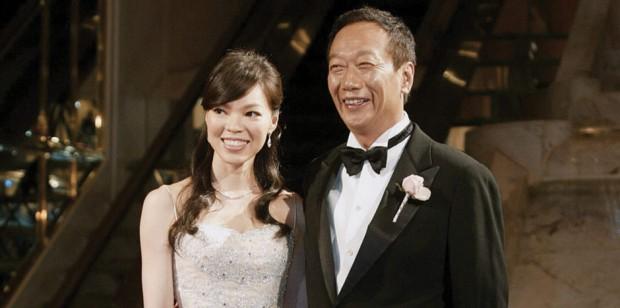 Gou Tai-ming and his wife