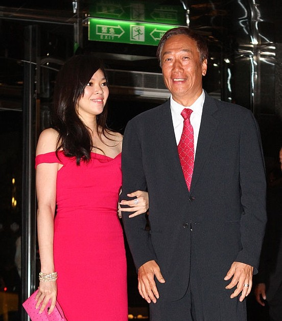 Terry Gou with his spouse attended a wedding party