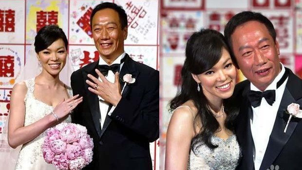 Zeng Xinying and Terry Gou on their wedding day