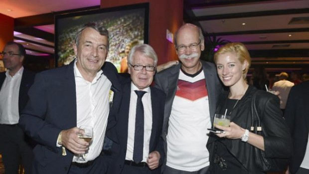 Dieter and His Daughter at the party of the German soccer federation