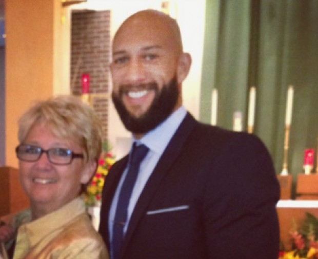 Tim Howard with his mom Esther Fekete Howard