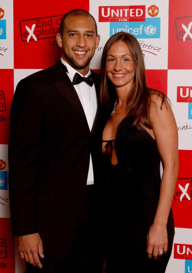 Tim Howard with his former spouse Laura Cianciola