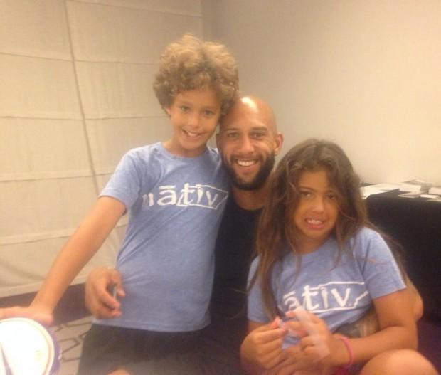 Tim and his kids