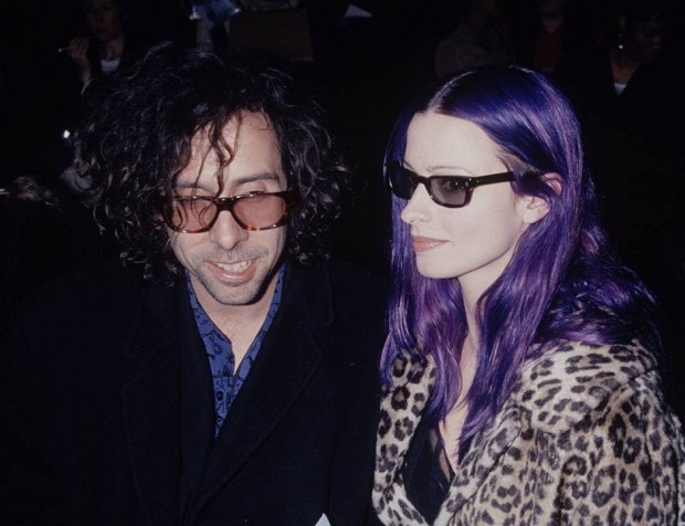 Tim Burton With His Wife Lisa Marie Smith