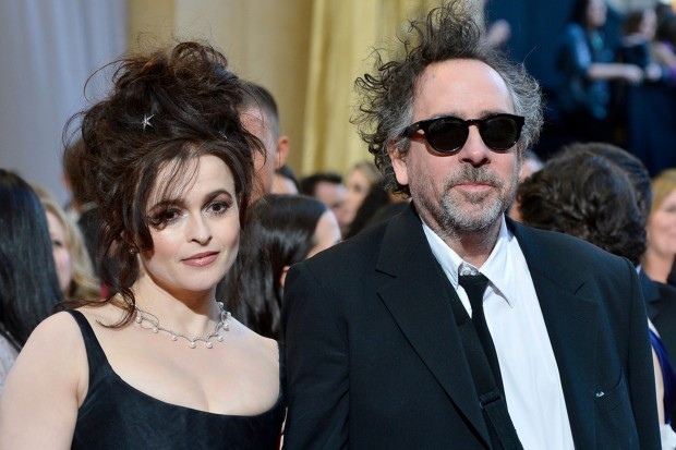 Tim Burton With His Wife Helena Bonham Carter