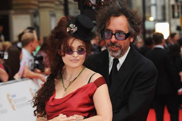 Tim Burton With His Wife Helena Bonham Carter at Philips British Academy Television Awards