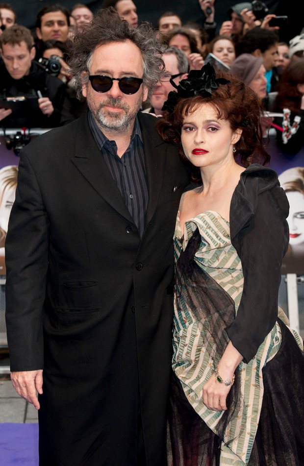 Tim Burton and Helena Bonham Carter at 'Dark Shadows' Premier