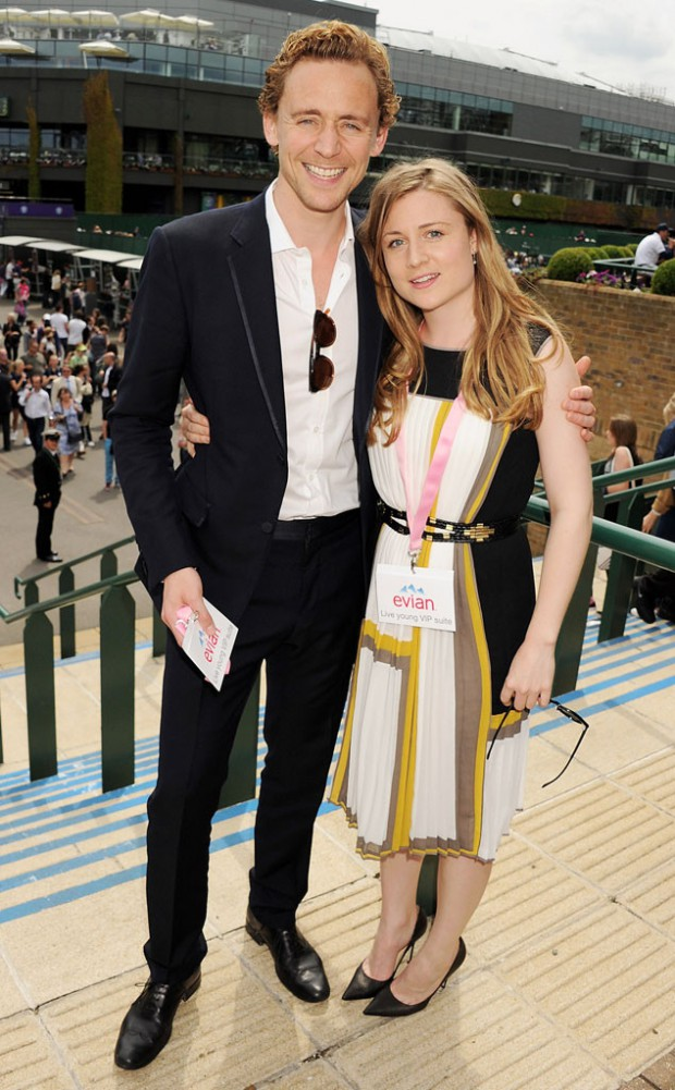 Tom Hiddleston and his sister Emma Hiddleston at Wimbledon
