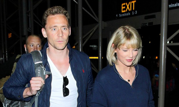 Tom Hiddleston with his girlfriend Taylor Swift