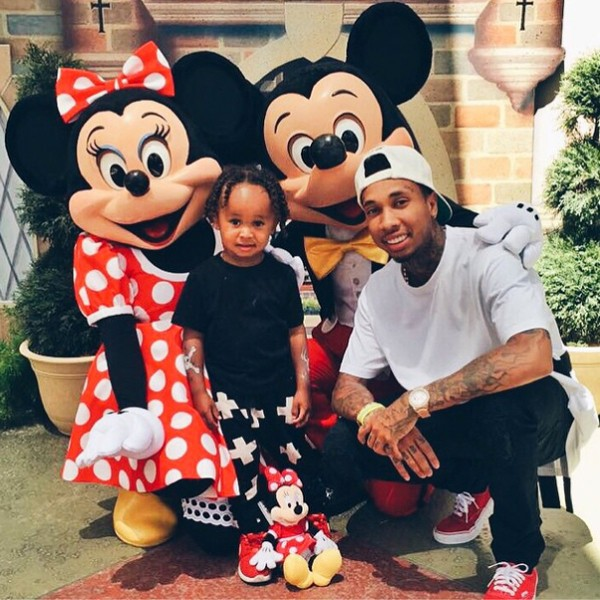 Tyga and His Son Little King