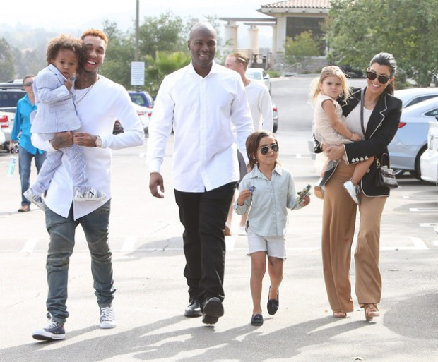 Tyga and His Son with Kim K Family