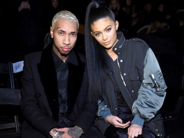 Tyga with his girlfriend Kylie Jenner