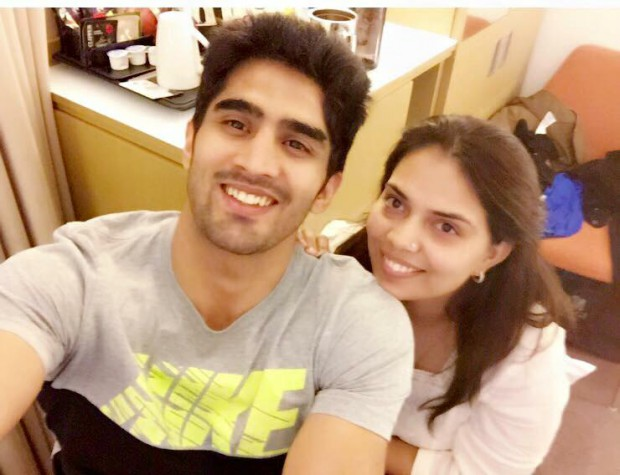 Vijender and his lady of love Archana Singh