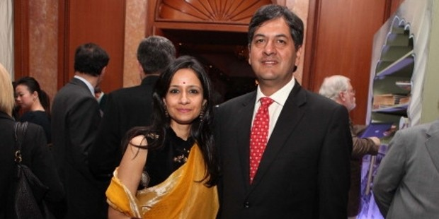 Seema Chandra with Her Husband Vikram Chandra