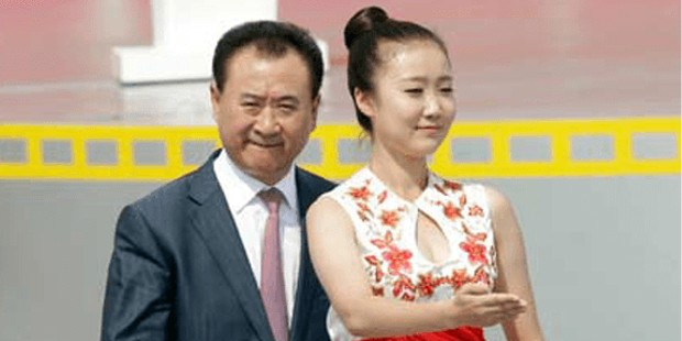 Wang Jianlin with his wife Lin Ning