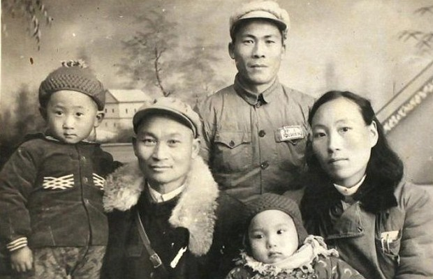 Little Wang Jianlin with His Family