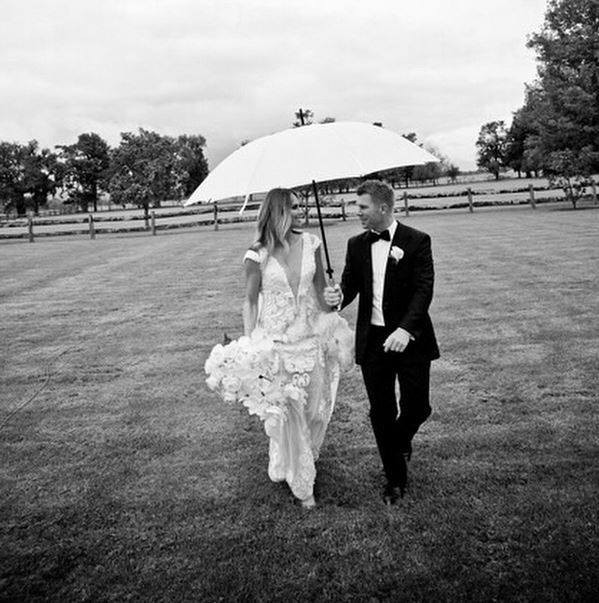 David Warner wedding photo