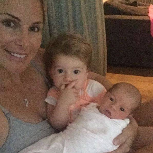 Candice Warner with her daughters