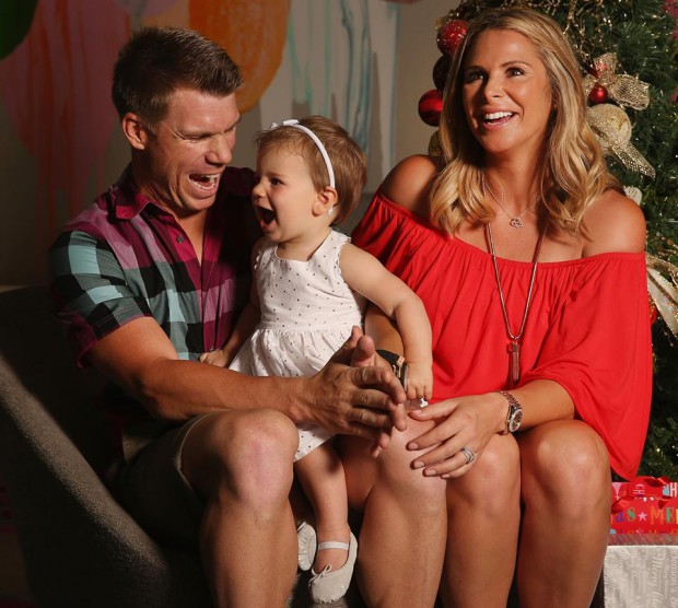 Warner and his wife with their little angel