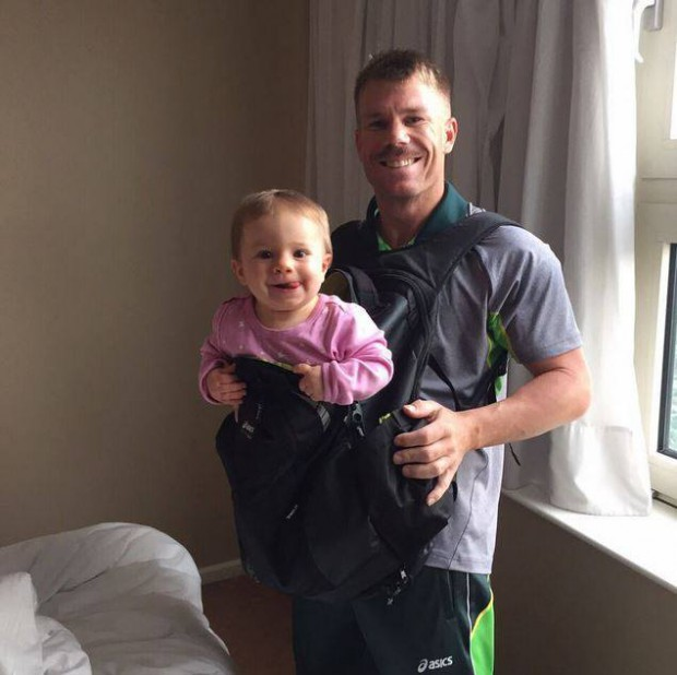 cute Ivy Mae posing with her dad