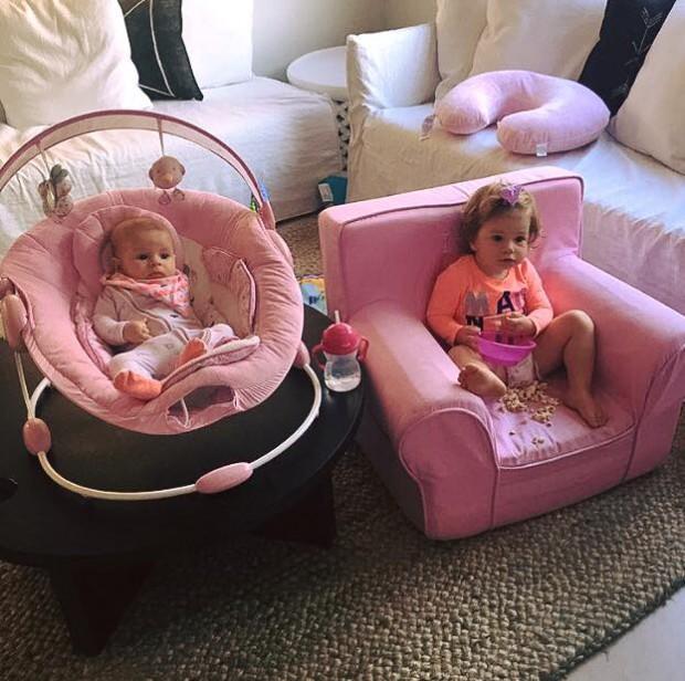 Indi Rae and Ivy Mae watching SRH match