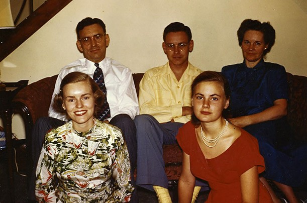 Warren Buffett with His Parents and Sisters