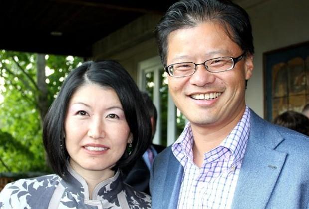 Akiko Yamazaki and Jerry Yang