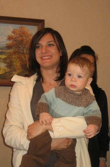 Yelena with her daughter Eva Isinbayeva