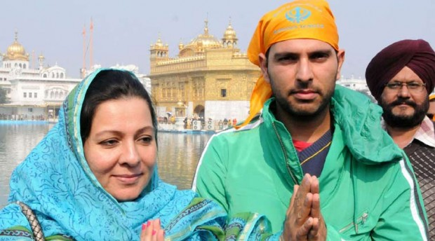 Yuvi With His Mother Shabnam
