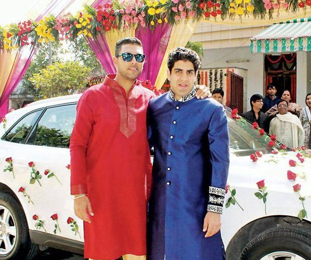 Yuvraj Singh With His Brother Zorawar Singh