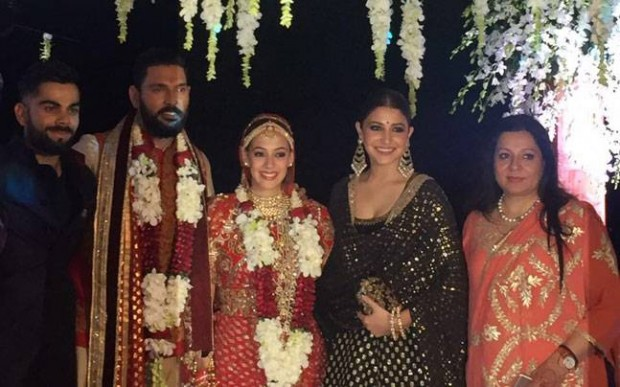 Virat and Anushka at Yuvraj Singh's wedding