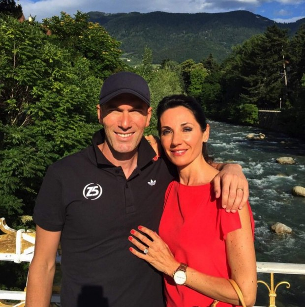 Zidane with his wife Véronique Zidane