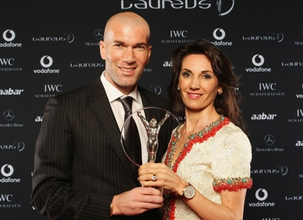 Zidane and his wife