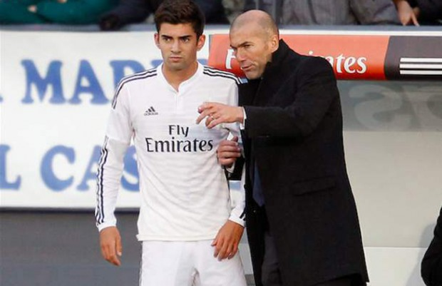 Enzo Zidane with his father Zenedine Zidane