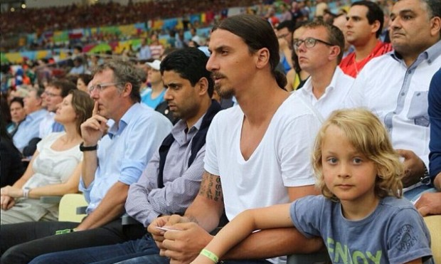 Maximilian with his dad Zlatan Ibrahimovic