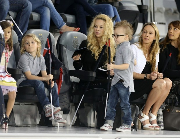 Helena Seger with kids Maximilian Ibrahimovic and Vincent Ibrahimovic