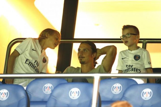 Zlatan Ibrahimovic with sons Maximilian and Vincent