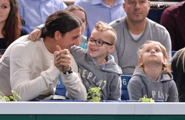 Zlatan with his sons