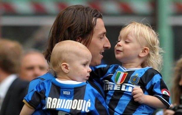 Zlatan Ibrahimovic and his sons