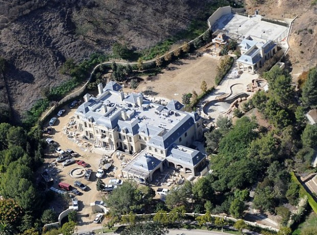 Aerial View of Mark's Mansion