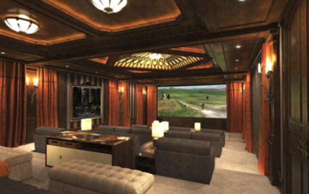 Home Theatre of Mark Wahlberg House