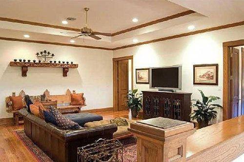 Living room of his Austin estate