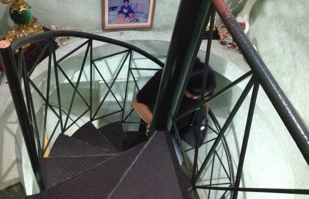 Very Narrow Spiral Staircase in His House