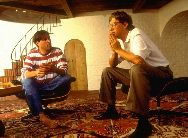 Steve Jobs In His House With Bill Gates