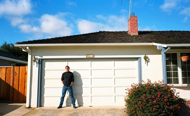 Steve Jobs at Garage in House