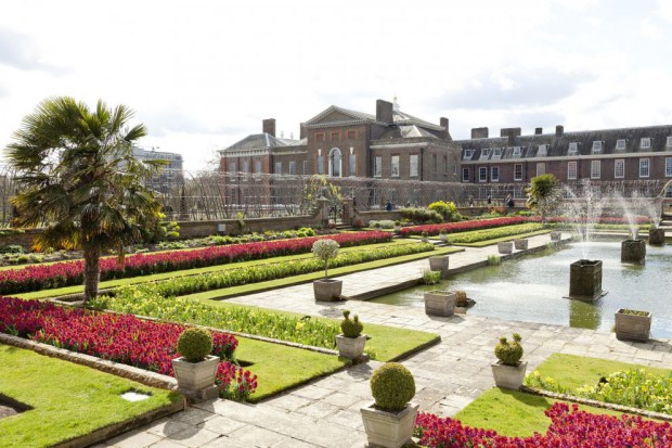 Sunken garden in Kensington Palace