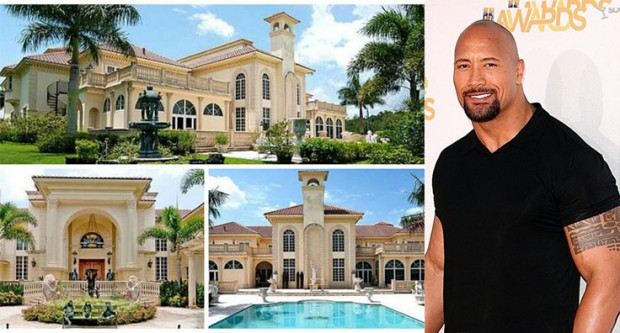 Dwayne Johnson Villa at Los Angeles