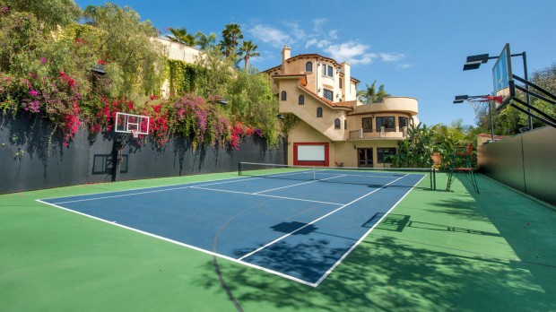 Kobe's Tennis Court in his House