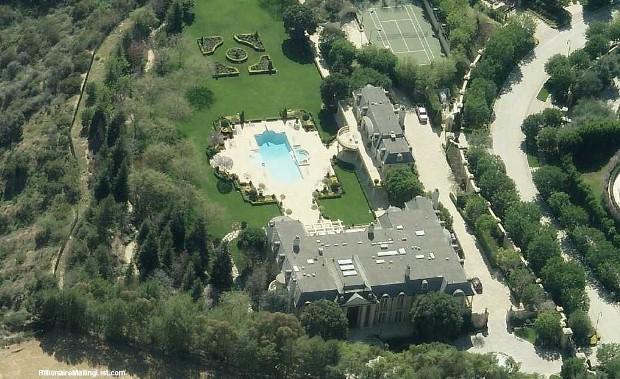 Denzel Washington House Top View