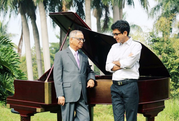 Narayana Murthy in His Garden